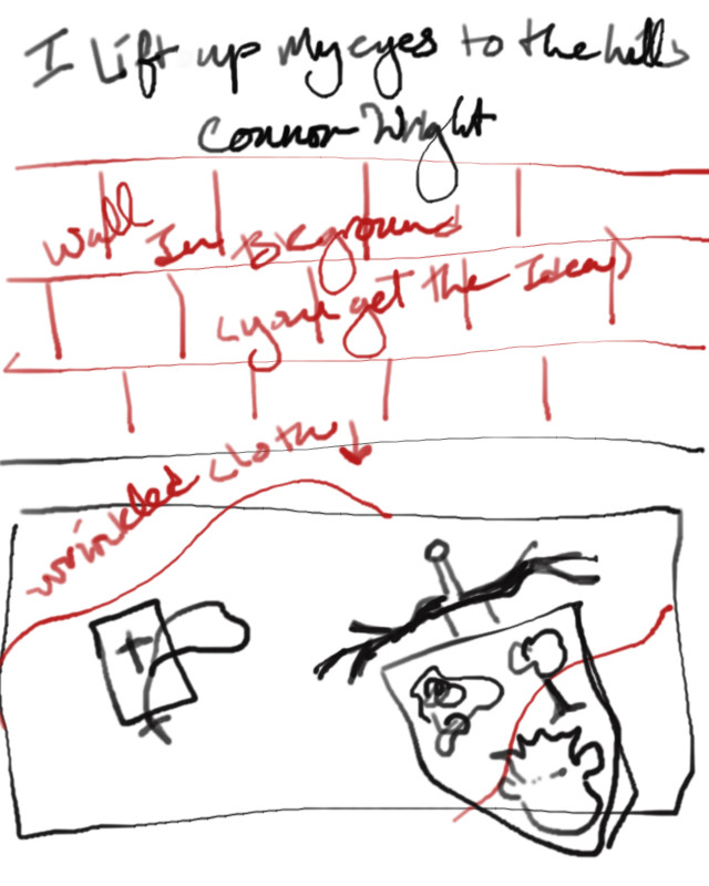 I can't draw, which is why I'm a writer.